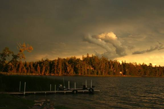 Storm Approaching Island Lake July 2015