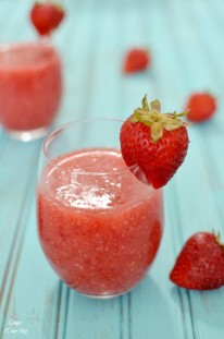 strawberry wine slushie