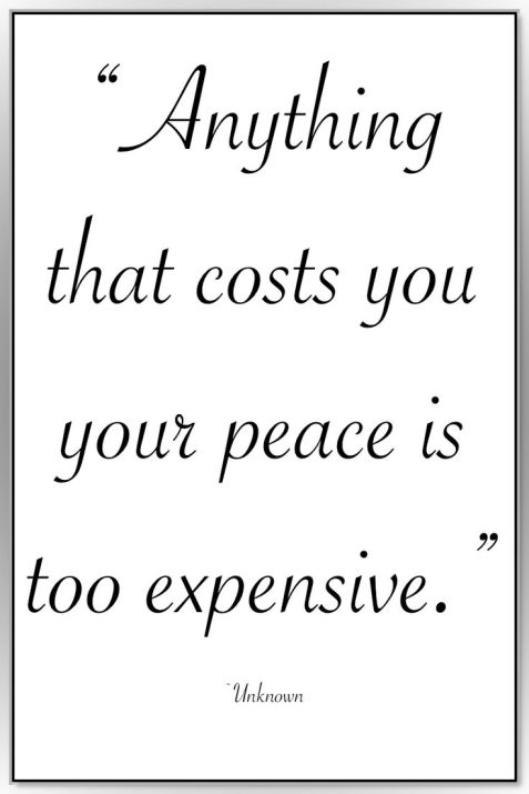 Cost of Peace Quote